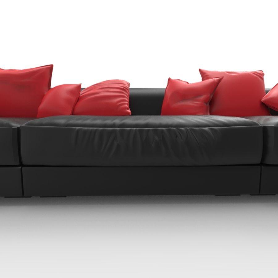 Sofá (Conjunto Uno) royalty-free modelo 3d - Preview no. 2