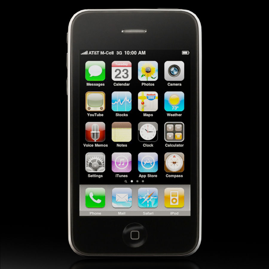Apple iPhone 3Gs royalty-free 3d model - Preview no. 2