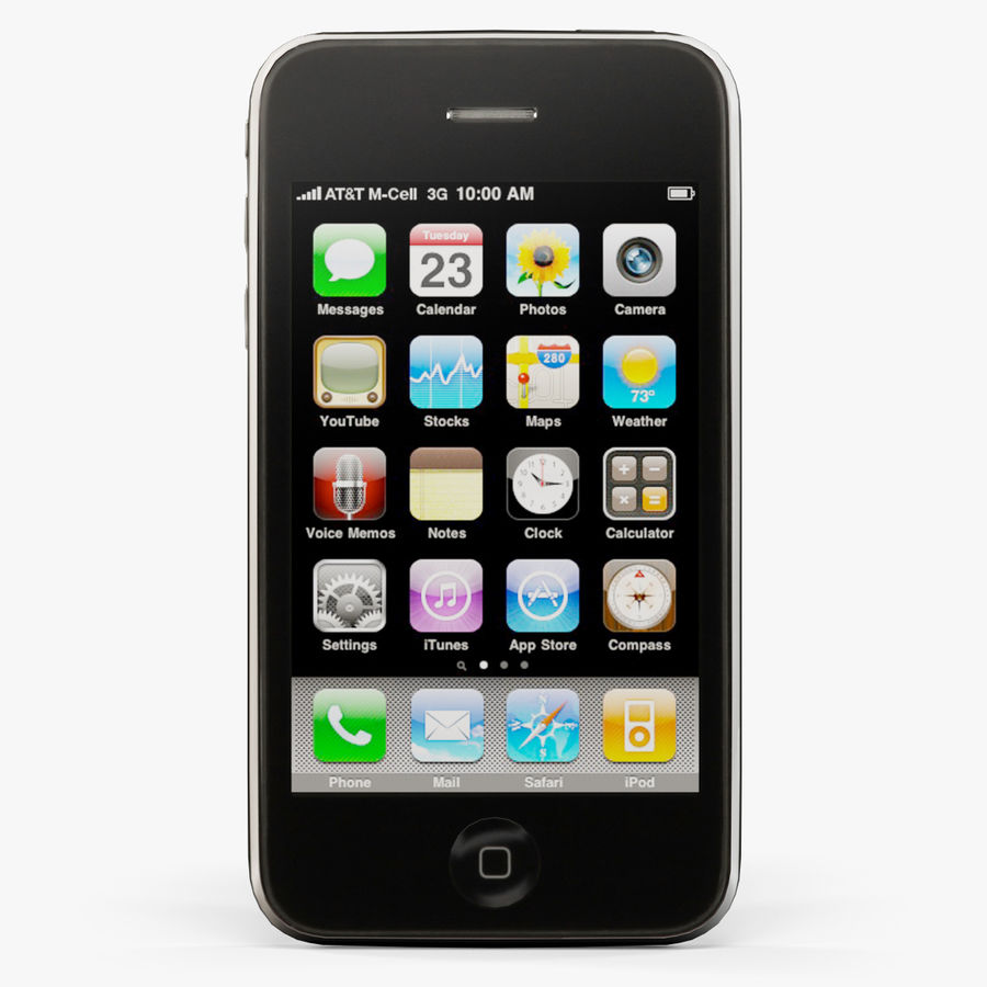 Apple iPhone 3Gs royalty-free 3d model - Preview no. 1