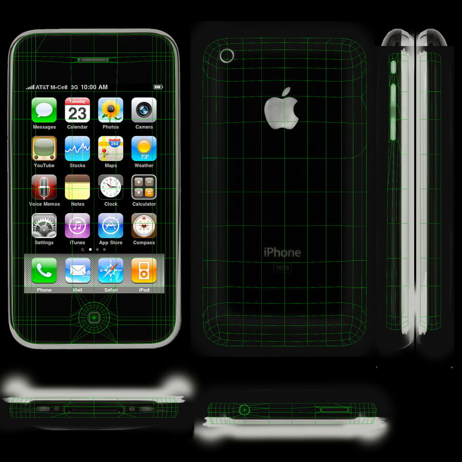 Apple iPhone 3Gs royalty-free 3d model - Preview no. 7