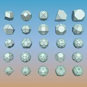 Пакет геометрических фигур 11 3d model