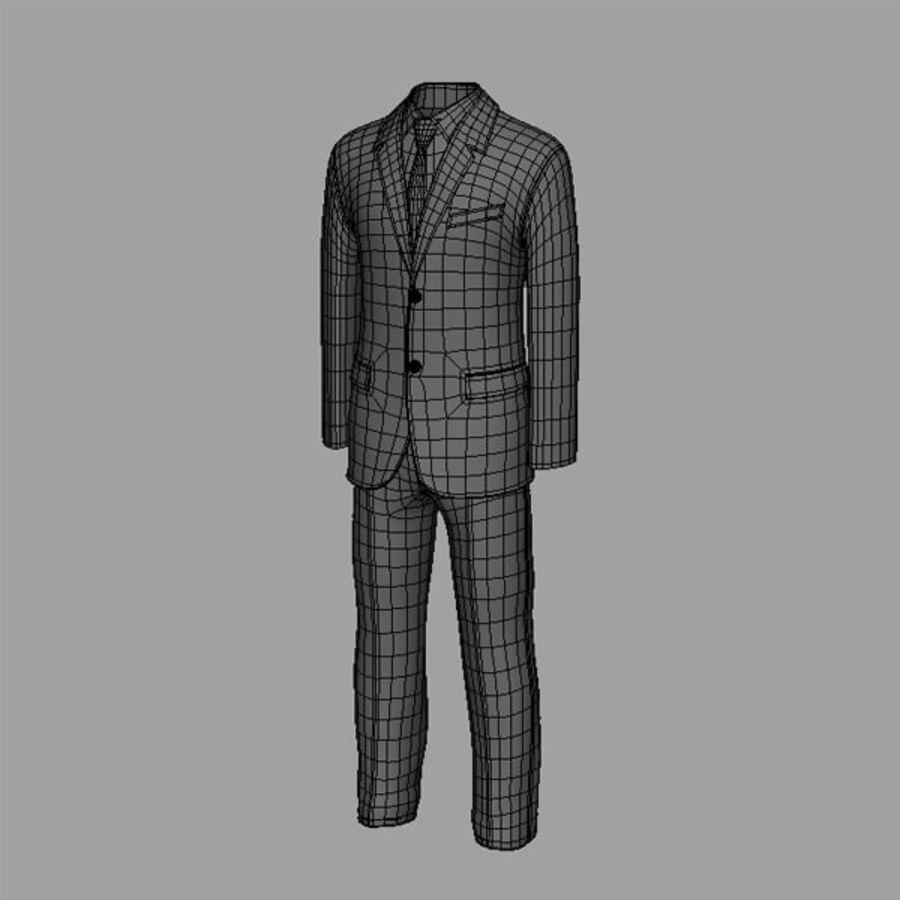 Man suit royalty-free 3d model - Preview no. 6
