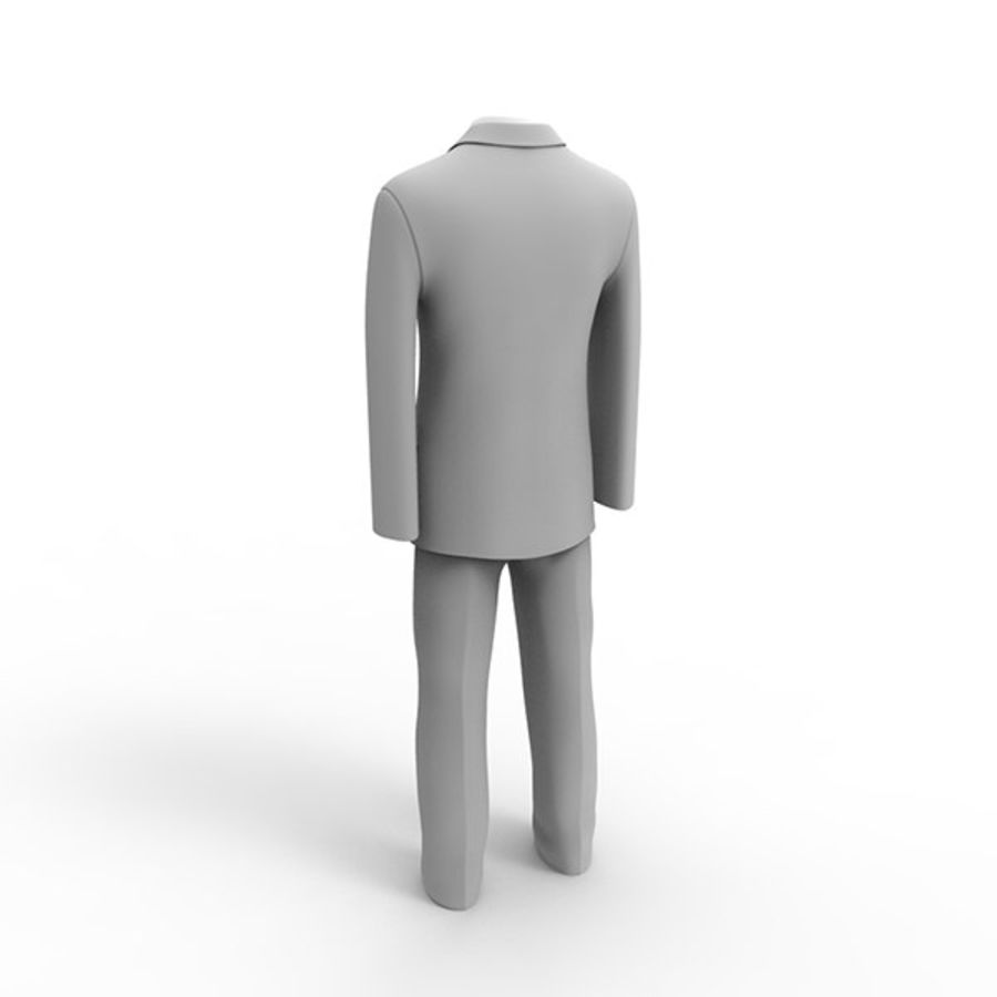Man suit royalty-free 3d model - Preview no. 5