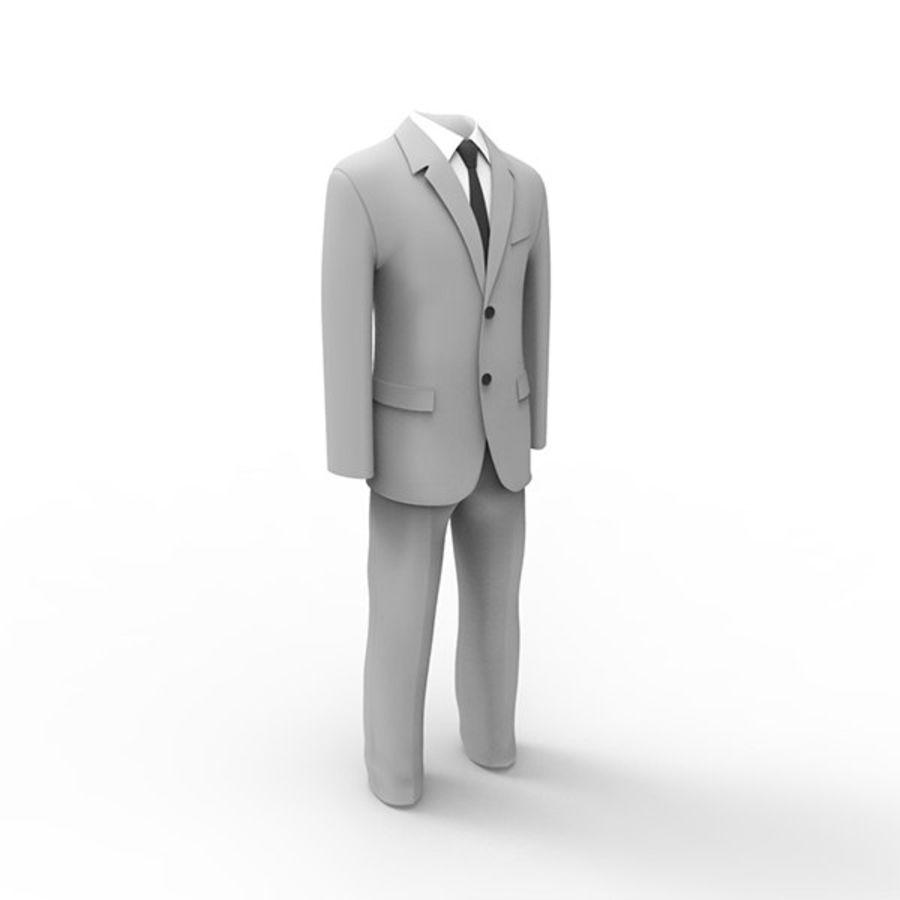 Man suit royalty-free 3d model - Preview no. 3