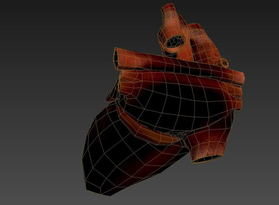 Ludzkie serce royalty-free 3d model - Preview no. 8