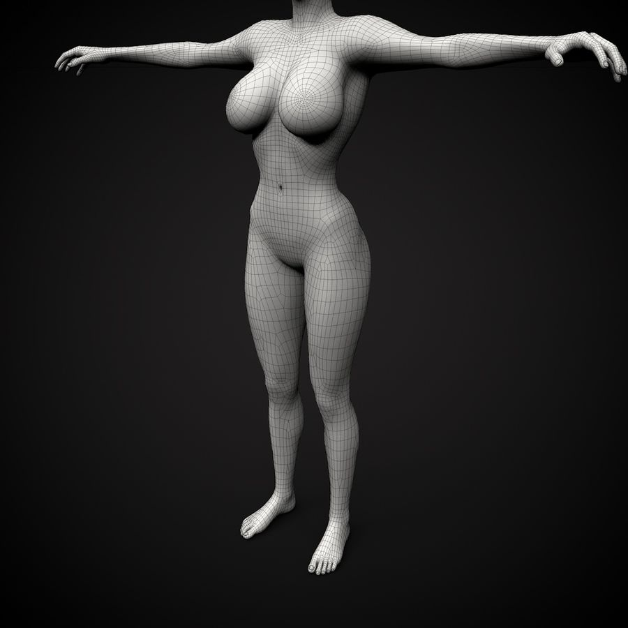 Beautiful Female Body royalty-free 3d model - Preview no. 1