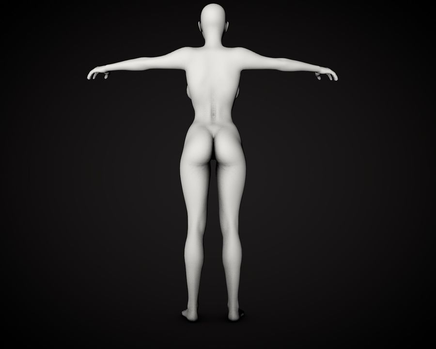 Corpo Feminino Bonito royalty-free 3d model - Preview no. 4