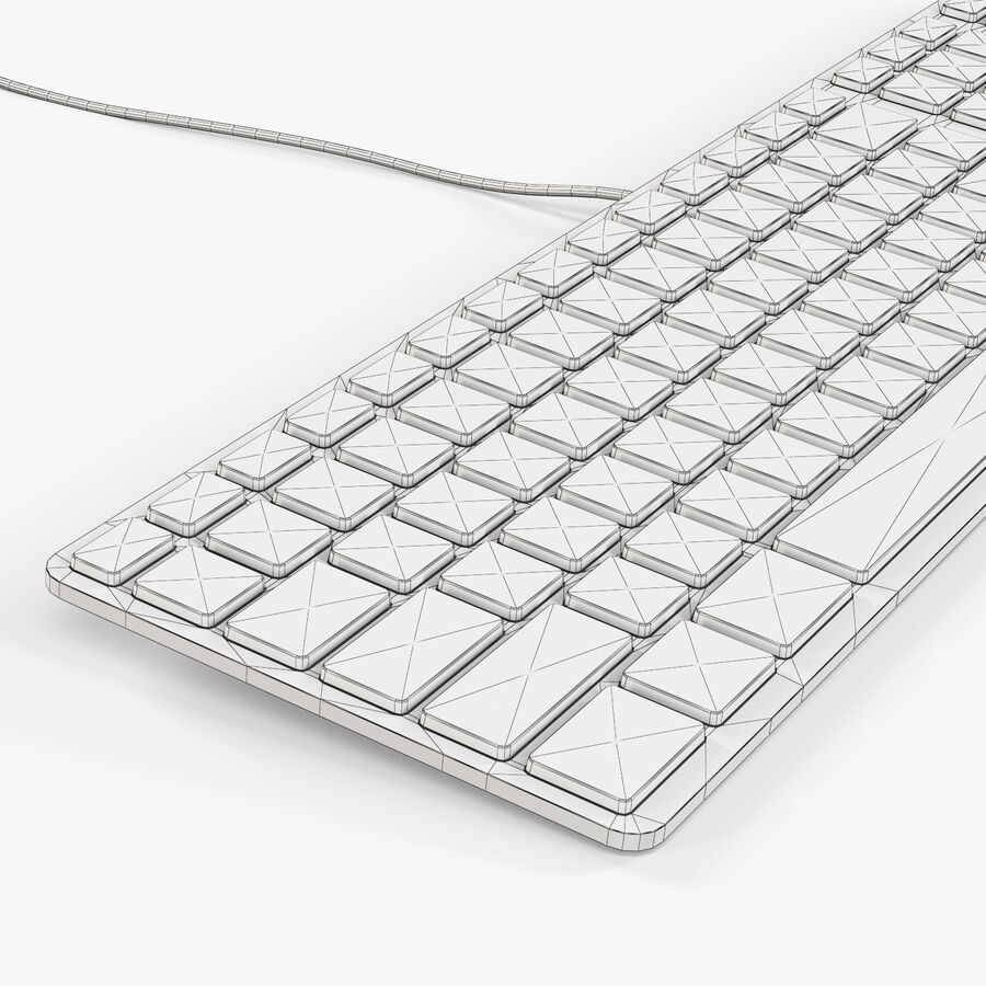 Apple Keyboard MB110 royalty-free 3d model - Preview no. 9