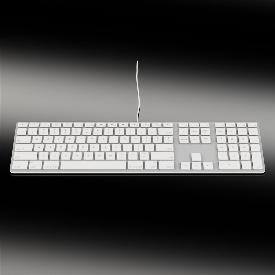 Apple Keyboard MB110 royalty-free 3d model - Preview no. 2