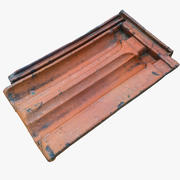 Classic Orange Roof Tile 03 3d model