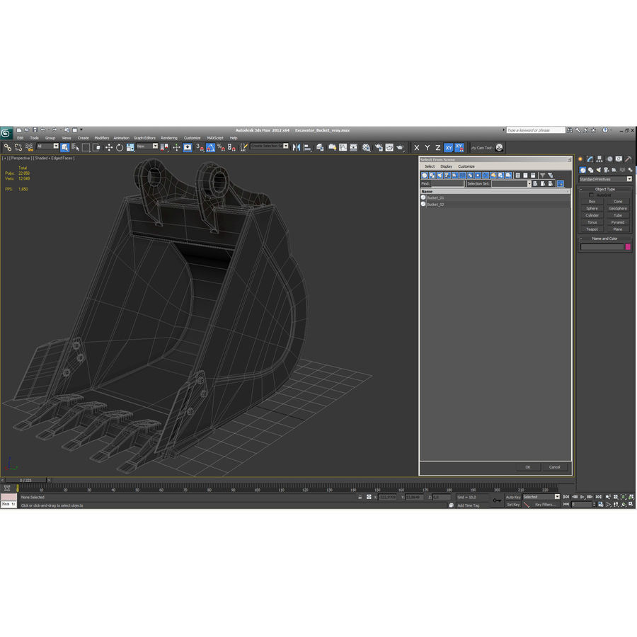 Excavator Bucket royalty-free 3d model - Preview no. 13