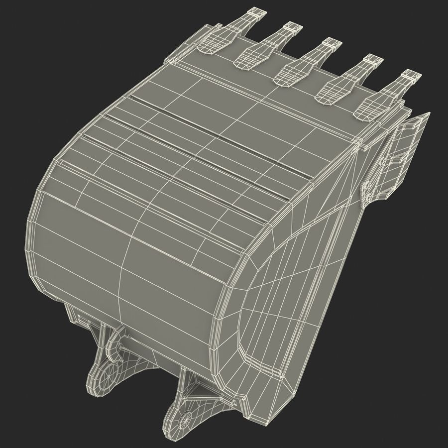 Excavator Bucket royalty-free 3d model - Preview no. 14