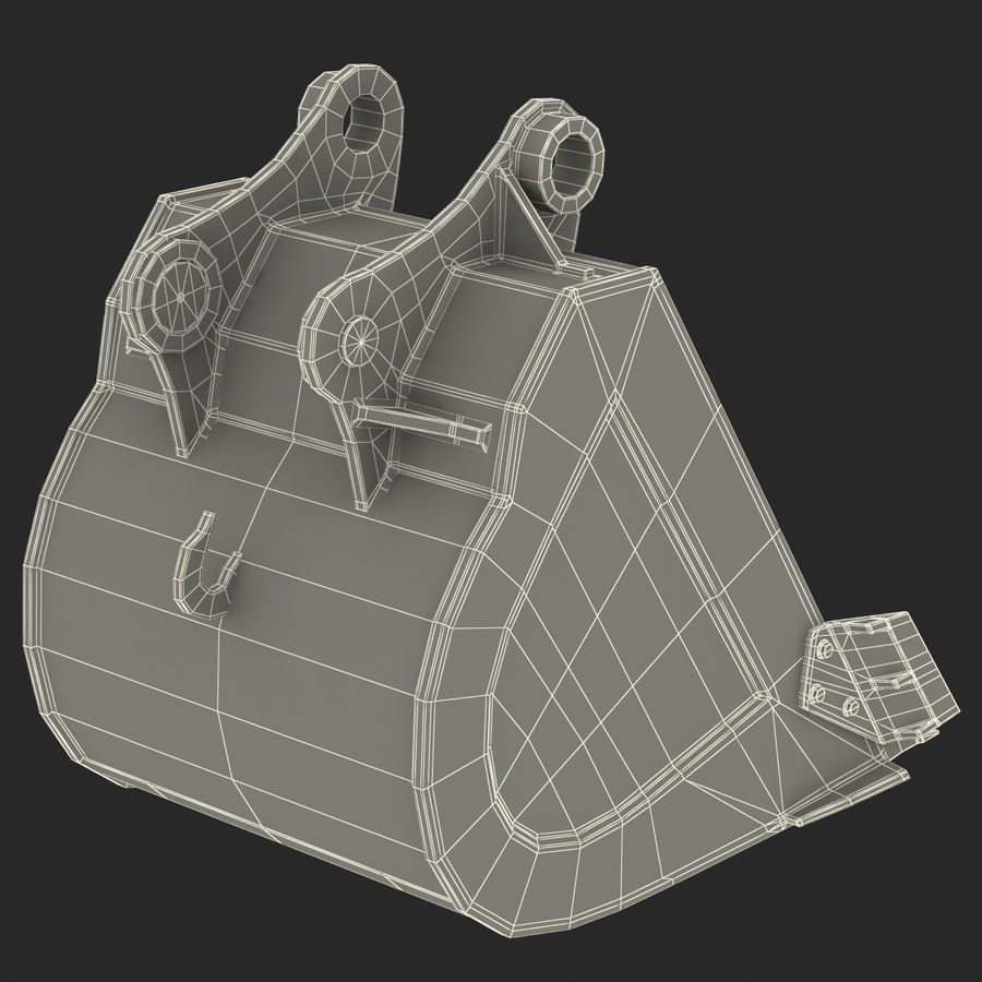 Excavator Bucket royalty-free 3d model - Preview no. 16