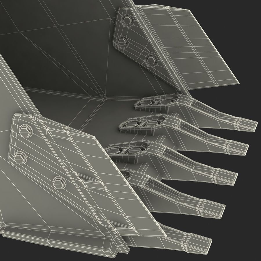 Excavator Bucket royalty-free 3d model - Preview no. 18
