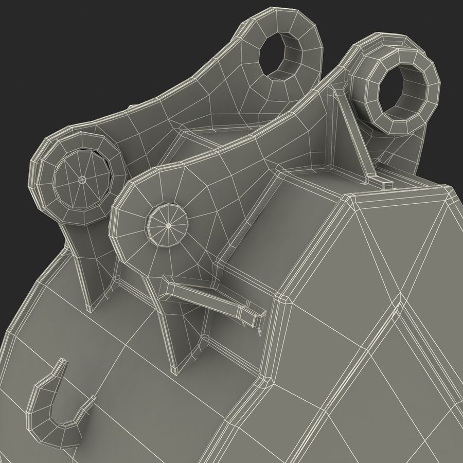 Excavator Bucket royalty-free 3d model - Preview no. 17