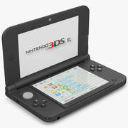 Nintendo 3DS XL Black 3D Model 3d model