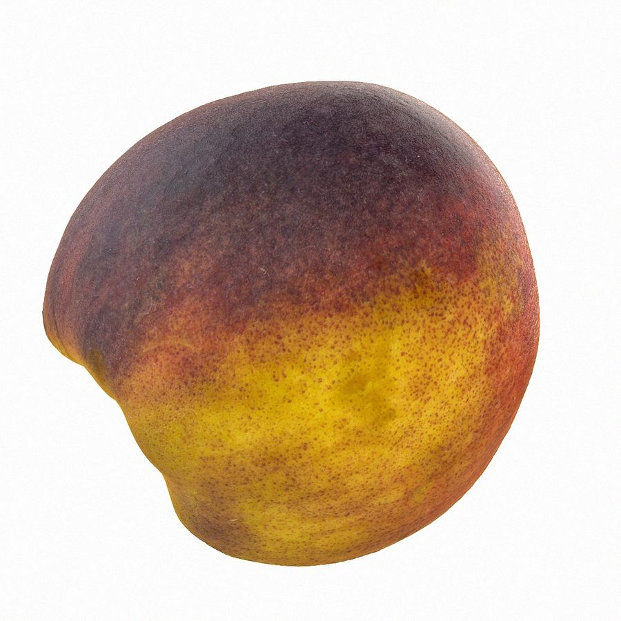 Tropical Realistic Peach Half 3 royalty-free 3d model - Preview no. 5