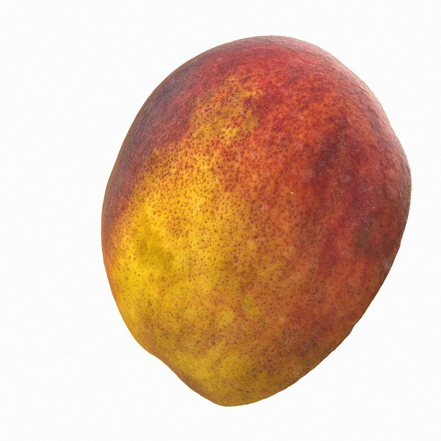 Tropical Realistic Peach Half 3 royalty-free 3d model - Preview no. 7