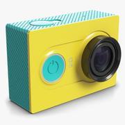 Xiaomi Yi Action Camera Yellow 3d model