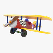 Wooden Airplane 02 3d model