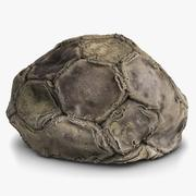 Soccerball 3 Old Deflated 3d model