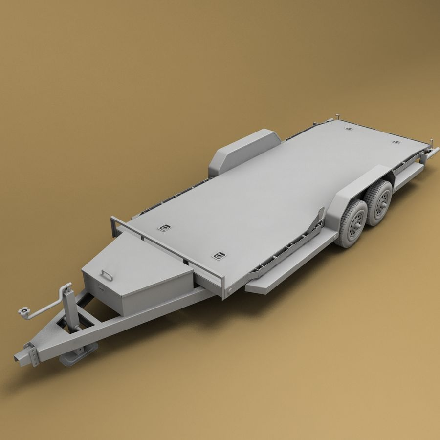 Reboque do carro royalty-free 3d model - Preview no. 7