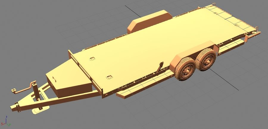 Reboque do carro royalty-free 3d model - Preview no. 21