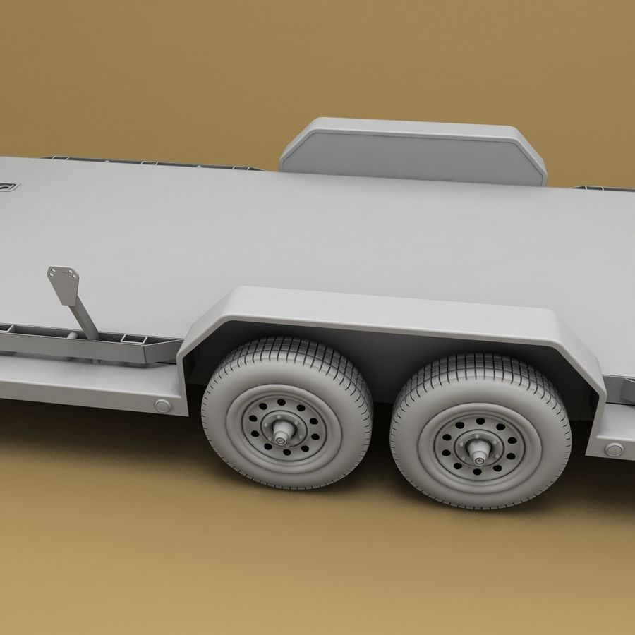 Reboque do carro royalty-free 3d model - Preview no. 12