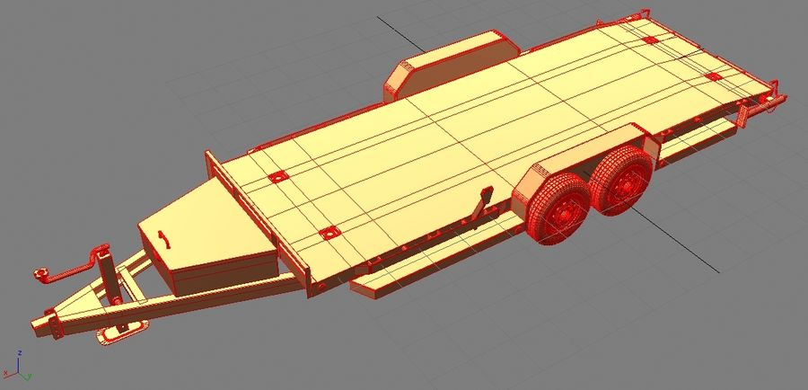 Reboque do carro royalty-free 3d model - Preview no. 22