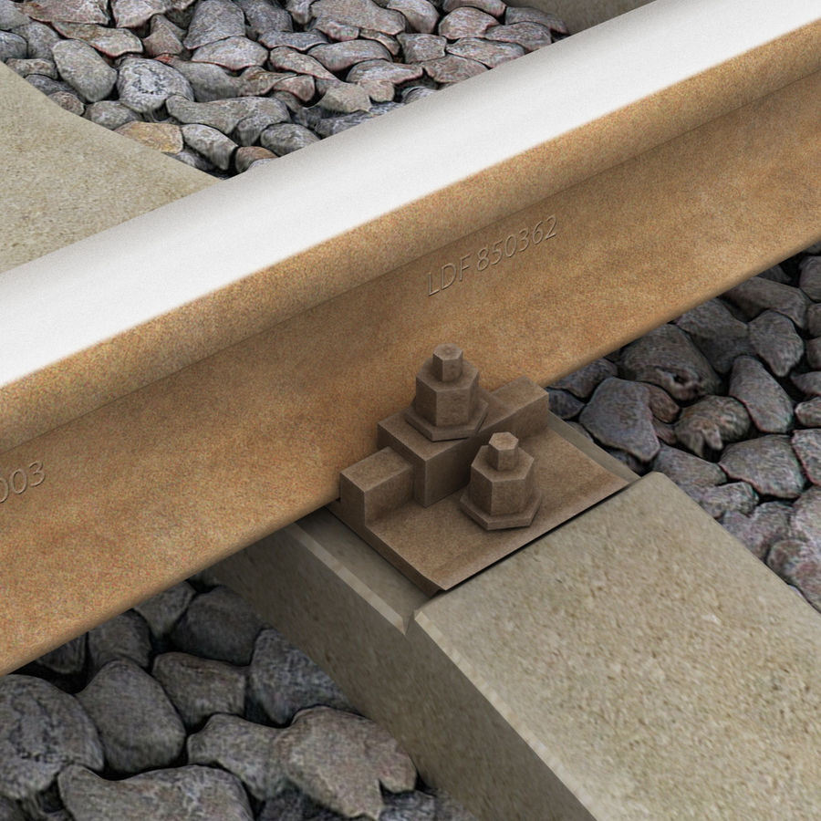 Railway royalty-free 3d model - Preview no. 14