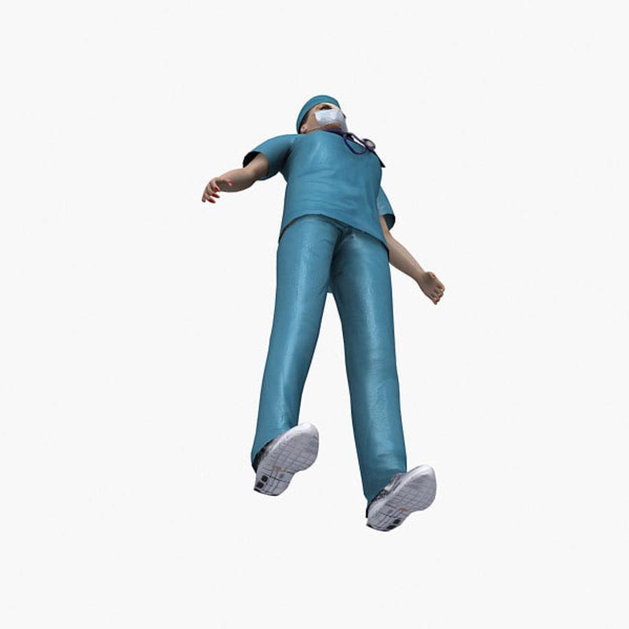 Femme médecin truqué royalty-free 3d model - Preview no. 12