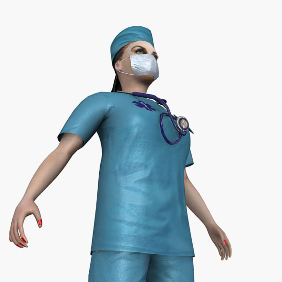 Femme médecin truqué royalty-free 3d model - Preview no. 5