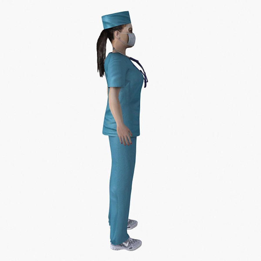 Femme médecin truqué royalty-free 3d model - Preview no. 9