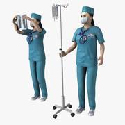 Kadın Doktor Arma 3d model