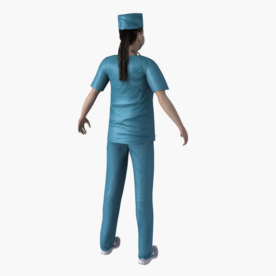 Femme médecin truqué royalty-free 3d model - Preview no. 10