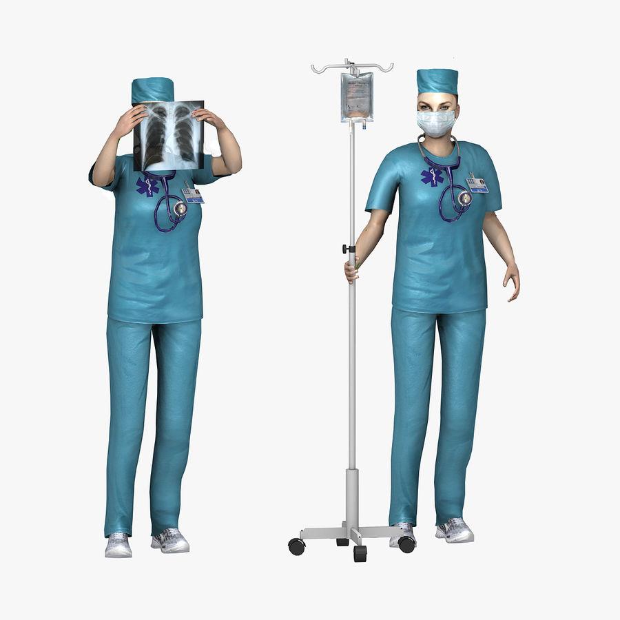 Femme médecin truqué royalty-free 3d model - Preview no. 3