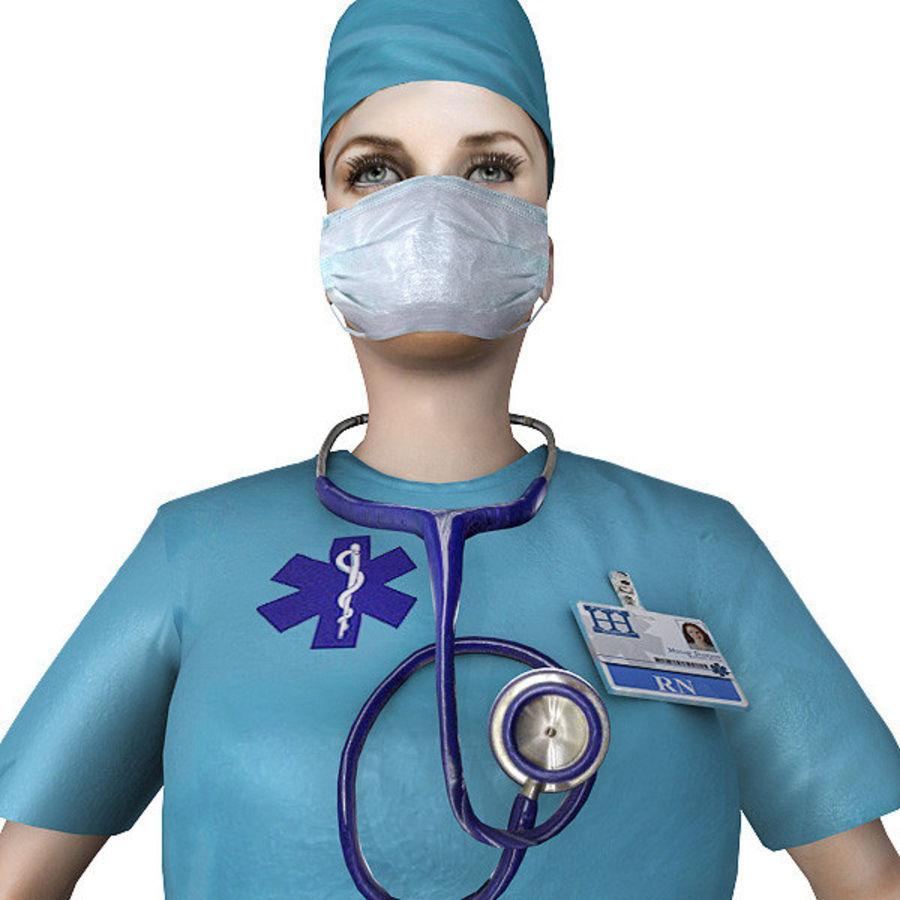 Femme médecin truqué royalty-free 3d model - Preview no. 6