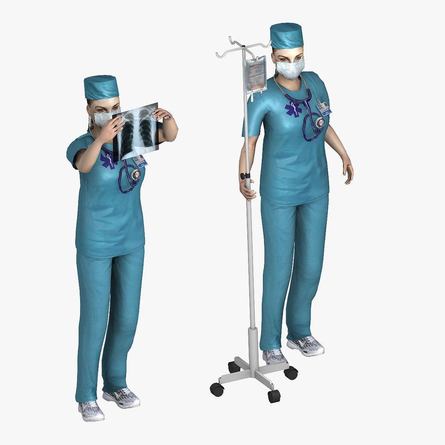 Femme médecin truqué royalty-free 3d model - Preview no. 2