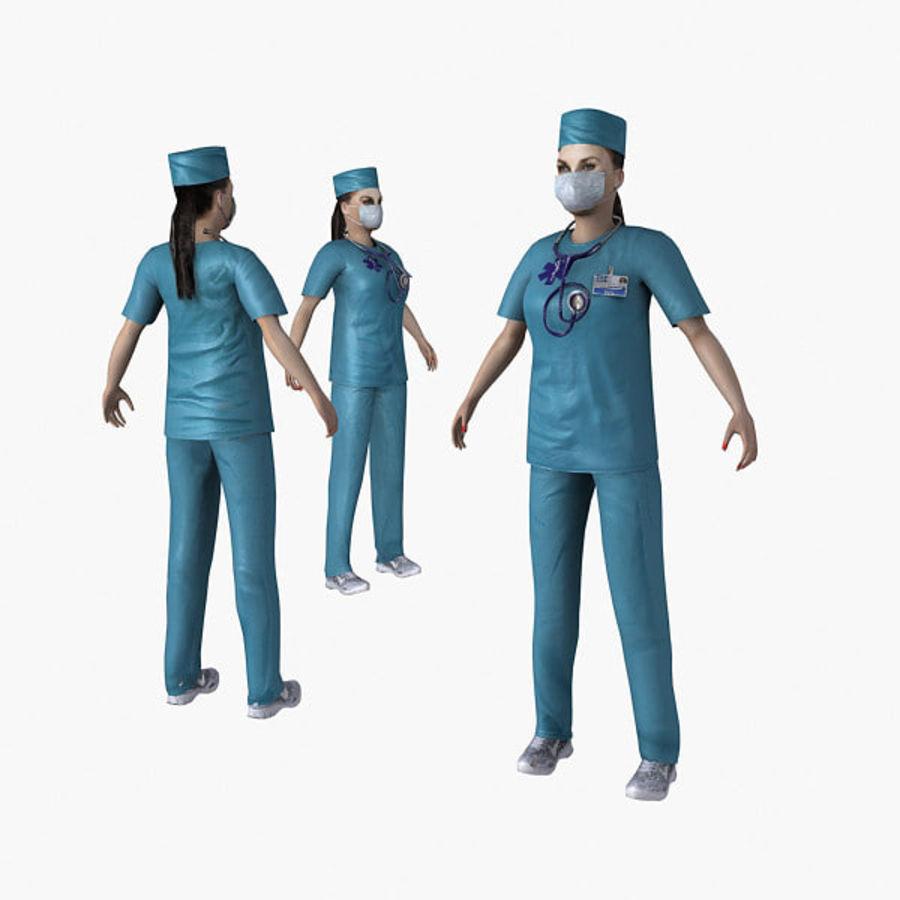 Femme médecin truqué royalty-free 3d model - Preview no. 7