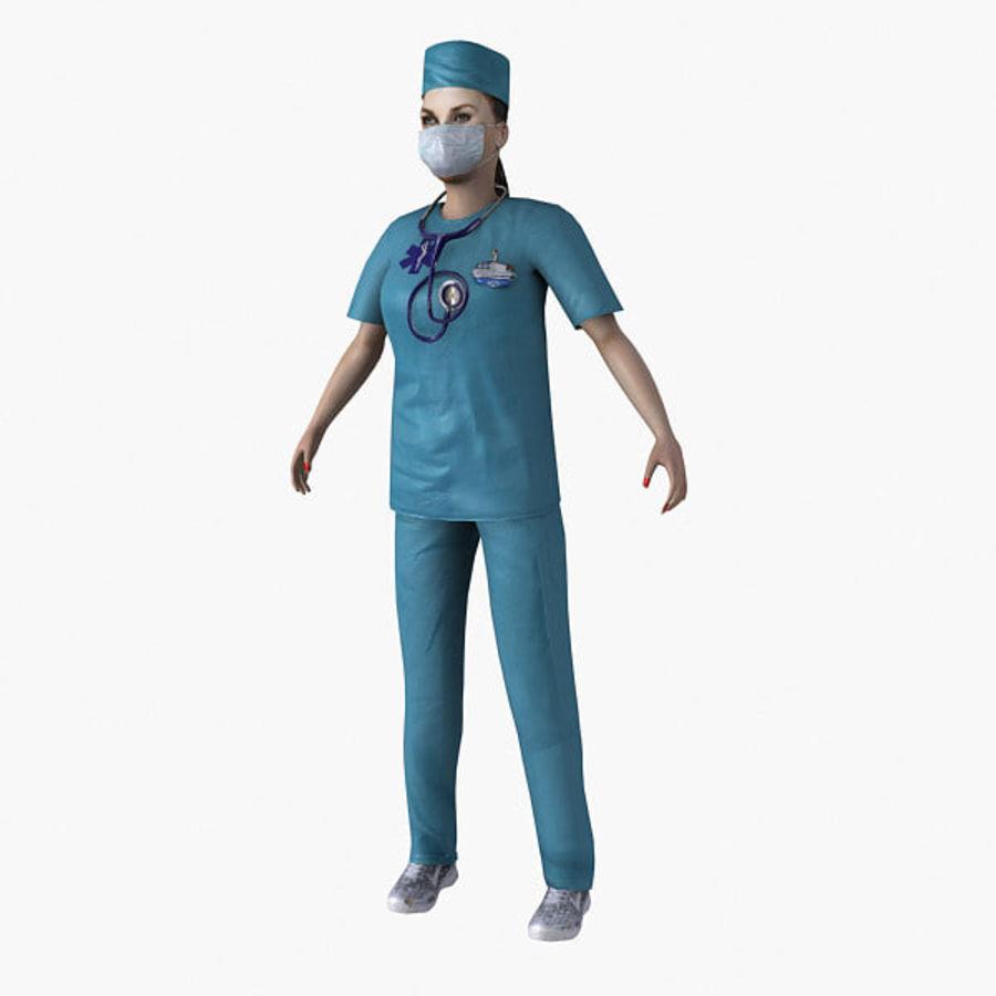 Femme médecin truqué royalty-free 3d model - Preview no. 8