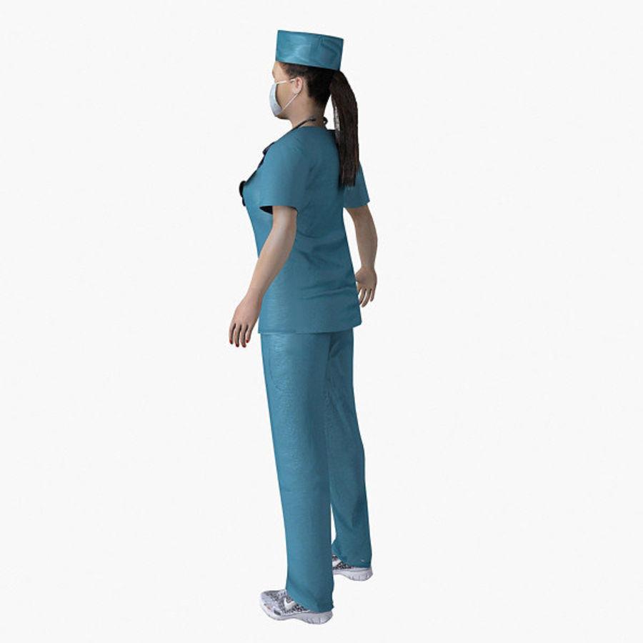 Femme médecin truqué royalty-free 3d model - Preview no. 11