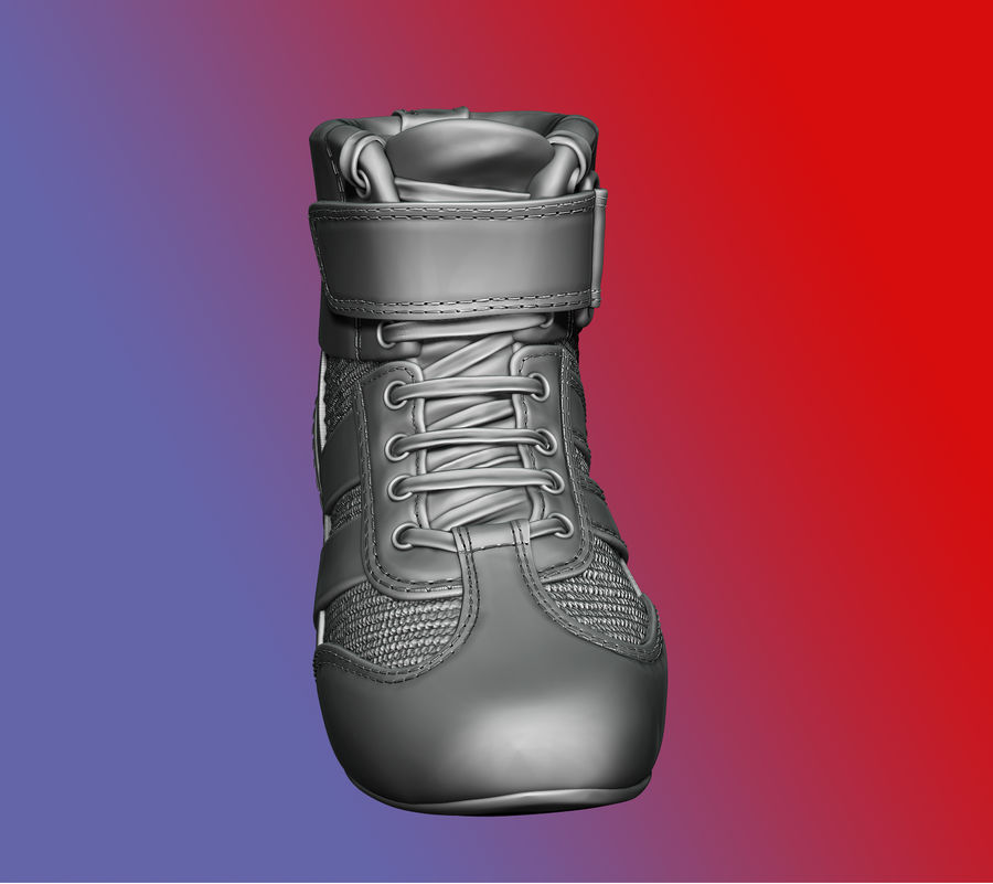 SHOESレーシングドライバー royalty-free 3d model - Preview no. 4