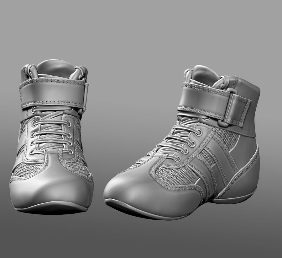 SHOESレーシングドライバー royalty-free 3d model - Preview no. 2