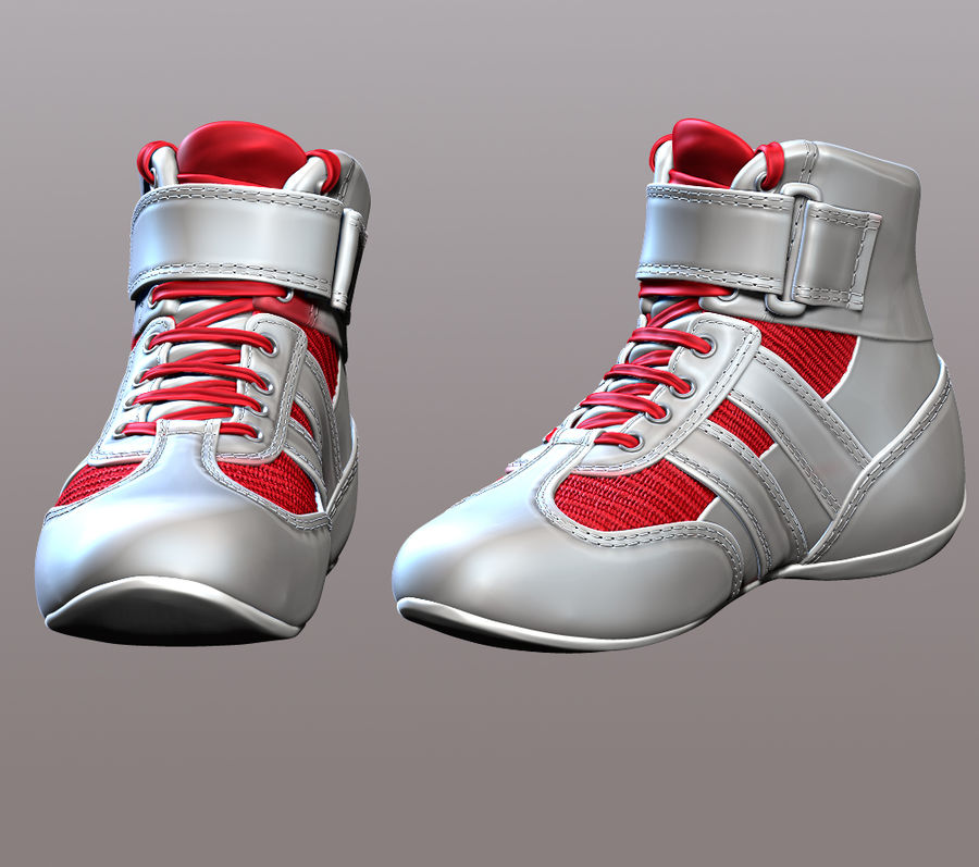 SHOESレーシングドライバー royalty-free 3d model - Preview no. 3