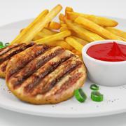Tasty food 3d model