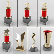 奖杯套装 3d model