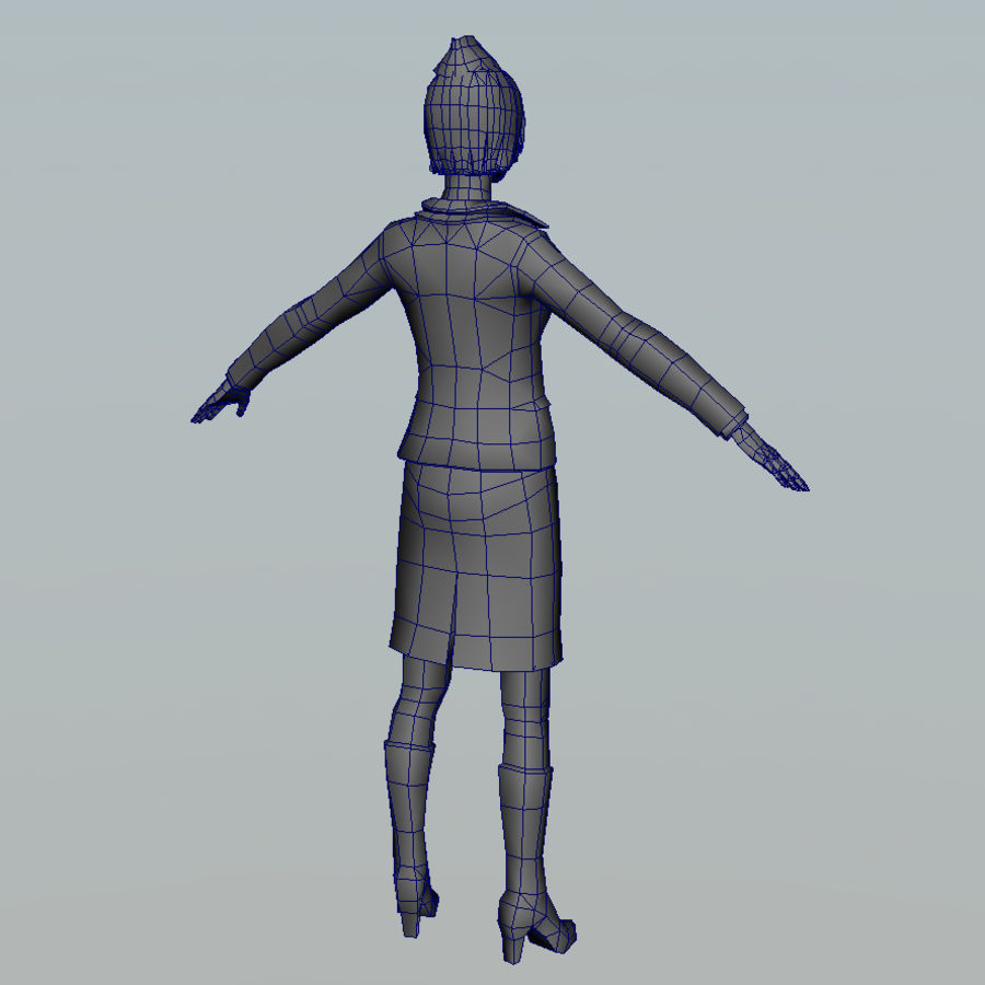hostess royalty-free 3d model - Preview no. 9