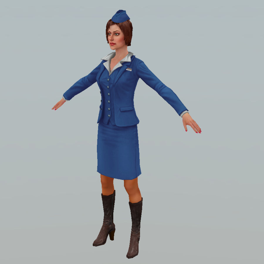 hostess royalty-free 3d model - Preview no. 11