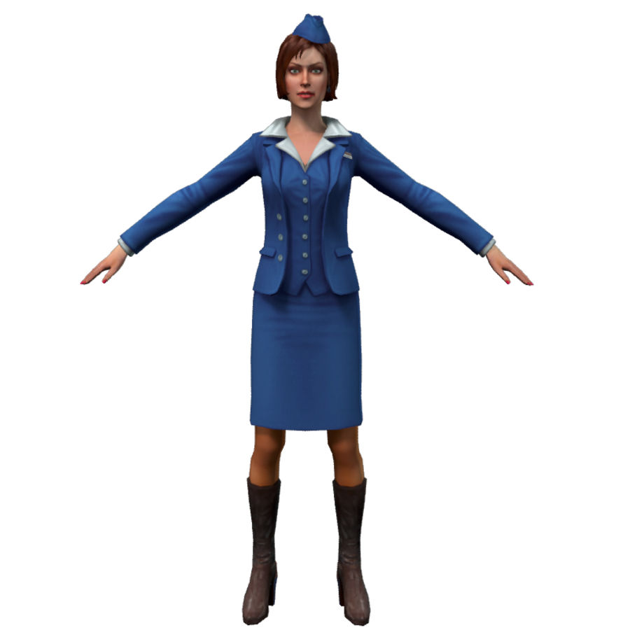 hostess royalty-free 3d model - Preview no. 5