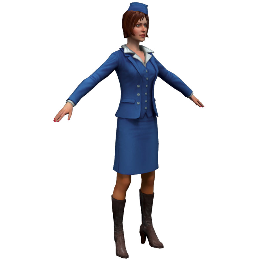hostess royalty-free 3d model - Preview no. 7
